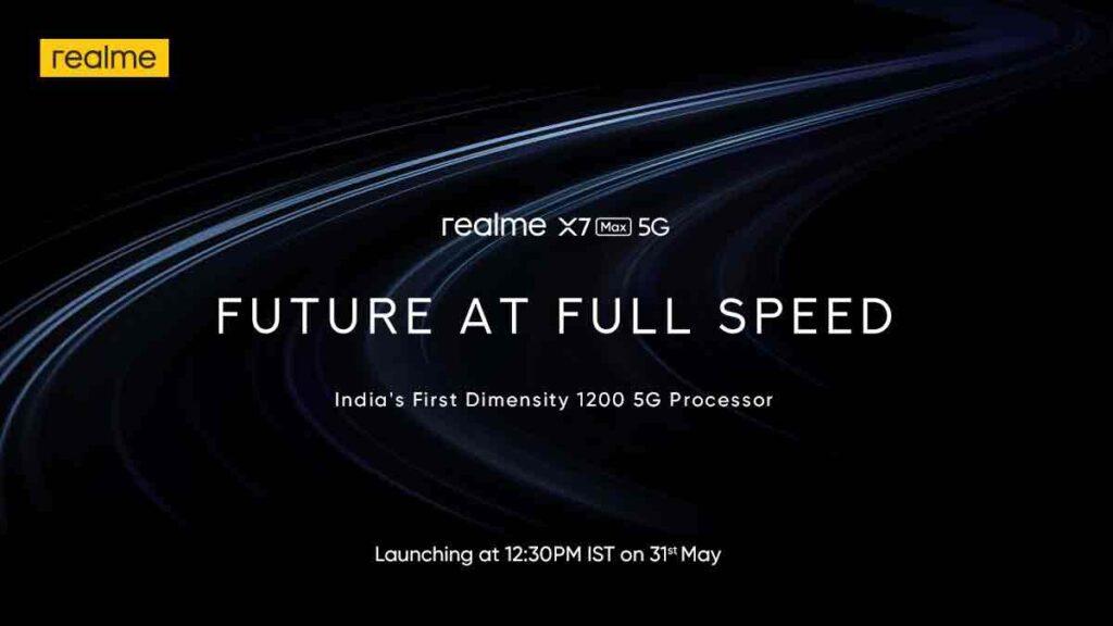 Realme X7 Max 5G launch date